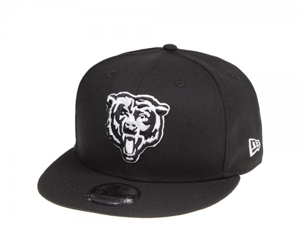 New Era Chicago Bears Black and White 9Fifty Snapback Cap