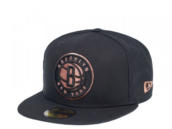 New Era New Brooklyn Nets Black and Copper Edition 59Fifty Fitted Cap