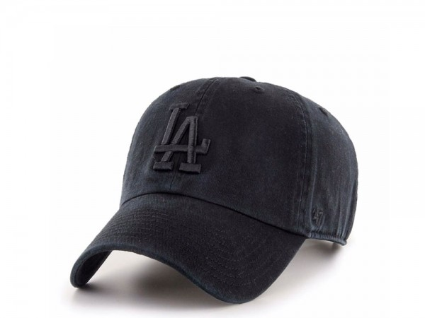 47brand Los Angeles Dodgers Black Edition Clean up Strapback Cap
