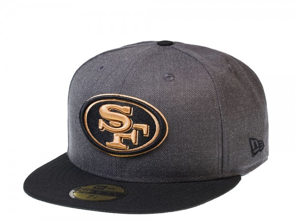 New Era San Francisco 49ers Heather Graphite Edition 59Fifty Fitted Cap