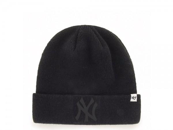 47 Brand New York Yankees Black Raised Cuff Mütze