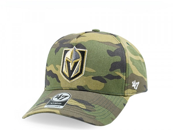 47Brand Vegas Golden Knights Camo Grove MVP DT Snapback Cap