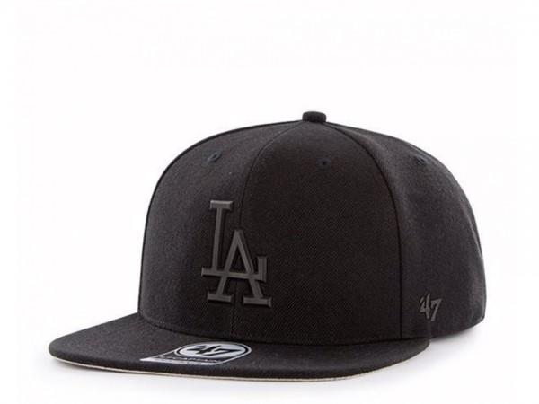 47brand Los Angeles Dodgers Black Matte Captain Snapback Cap