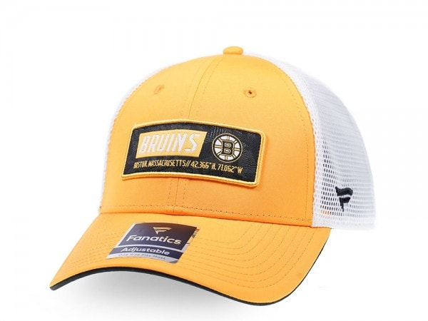 Fanatics Boston Bruins Yellow Iconic Trucker Snapback Cap