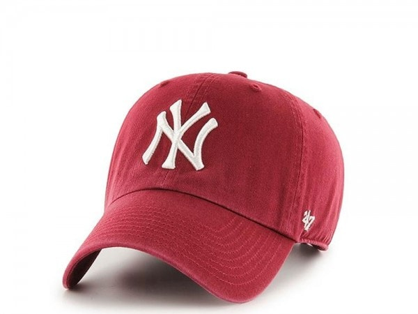 47Brand New York Yankees Clean Up Red Strapback Cap