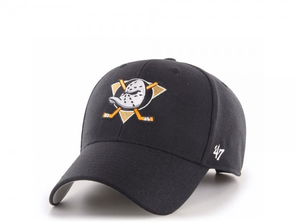 47brand Anaheim Ducks MVP Black Snapback Cap