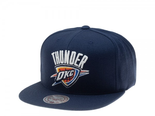 Mitchell & Ness Oklahoma City Thunder Wool Solid Snapback Cap