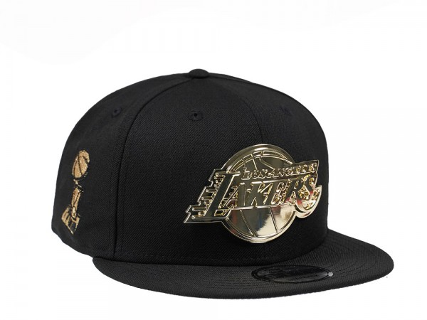 New Era Los Angeles Lakers Champions Gold Metal Edition 9Fifty Snapback Cap